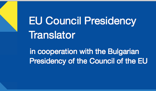 Translator for the EU Council Presidency