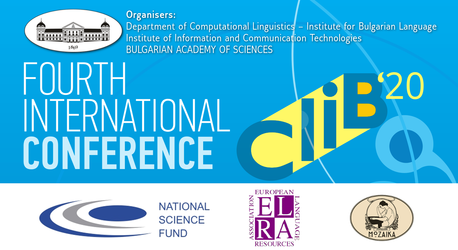 Fourth International Conference Computational Linguistics in Bulgaria (CLIB 2020)